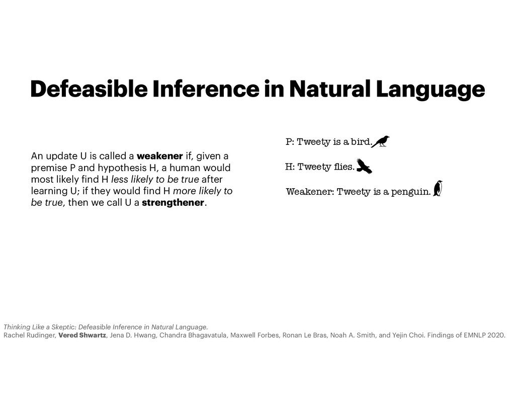 Defeasible Inference in Natural Language An upd...