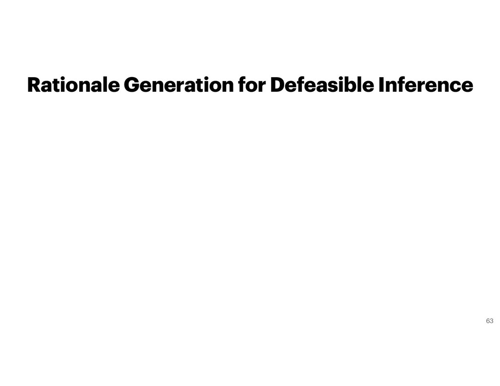 Rationale Generation for Defeasible Inference 63
