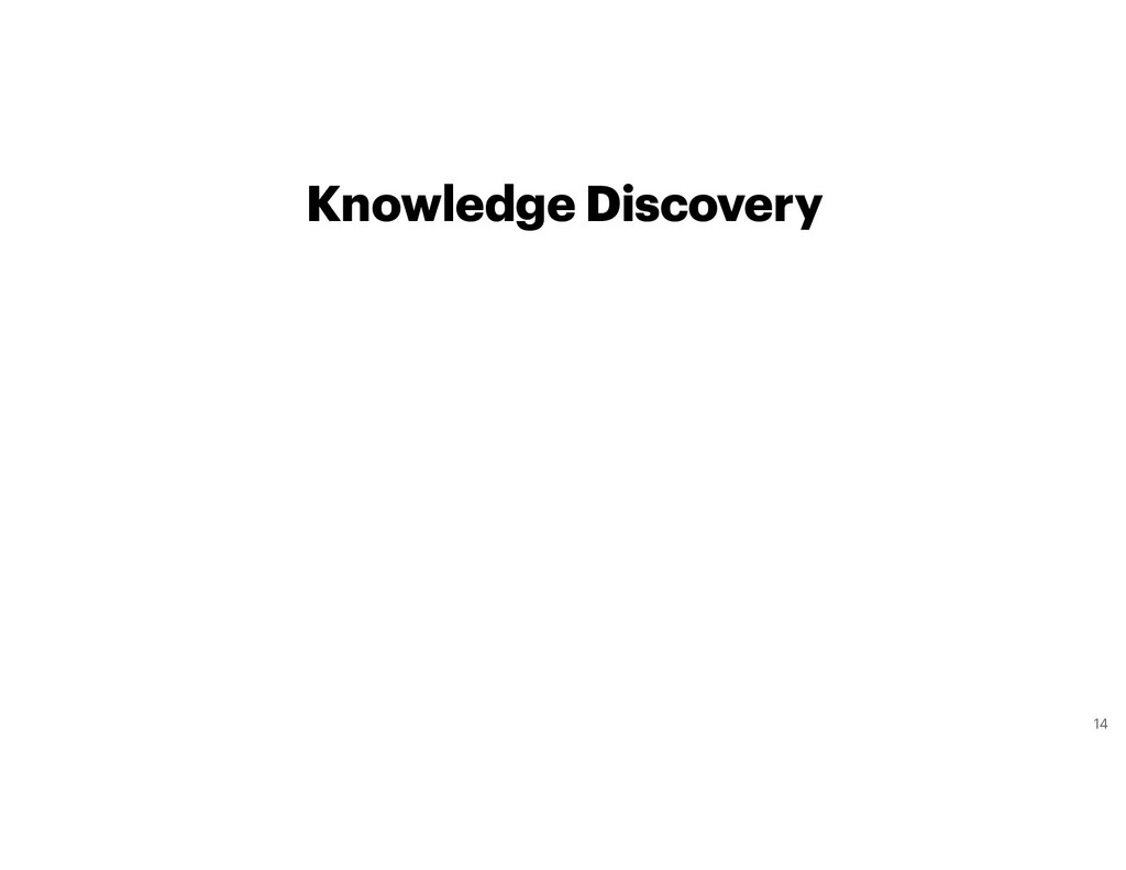Knowledge Discovery 14