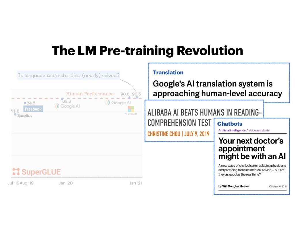 The LM Pre-training Revolution 2 0 25 50 75 100...