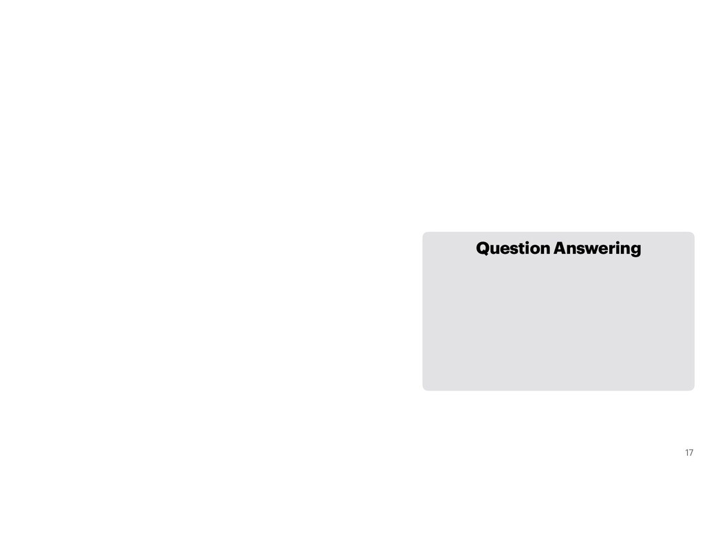 Question Answering 17