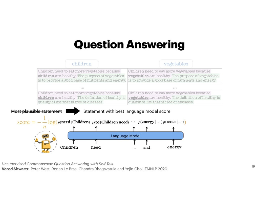 Question Answering Most plausible statement Sta...