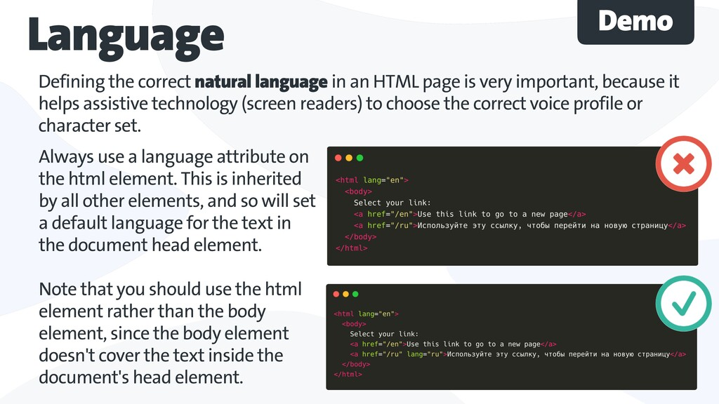 Defining the correct natural language in an HTM...