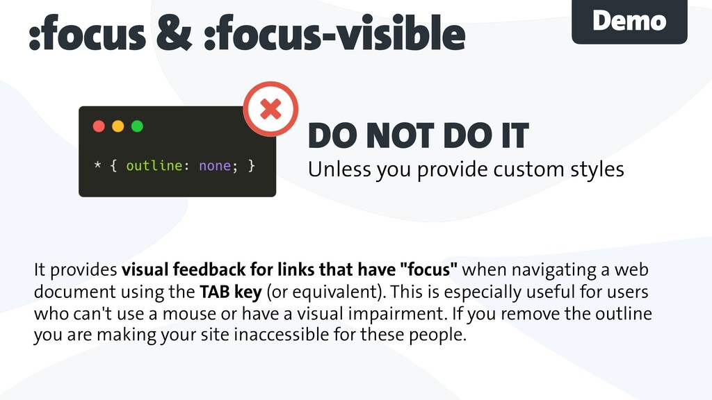 It provides visual feedback for links that have...