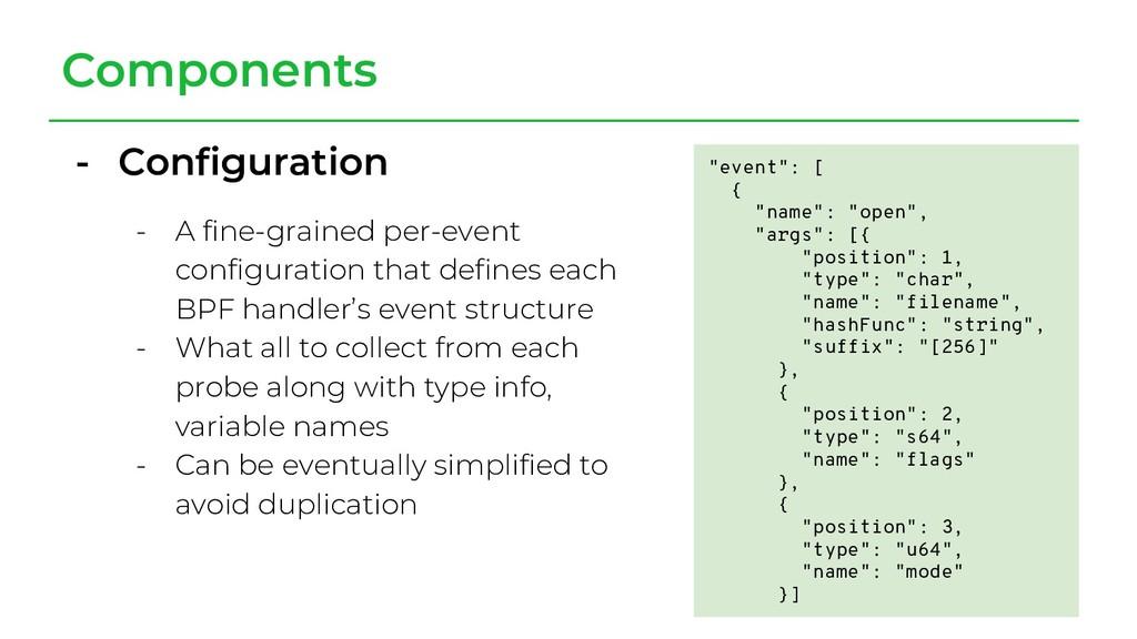 - Configuration - A fine-grained per-event conf...