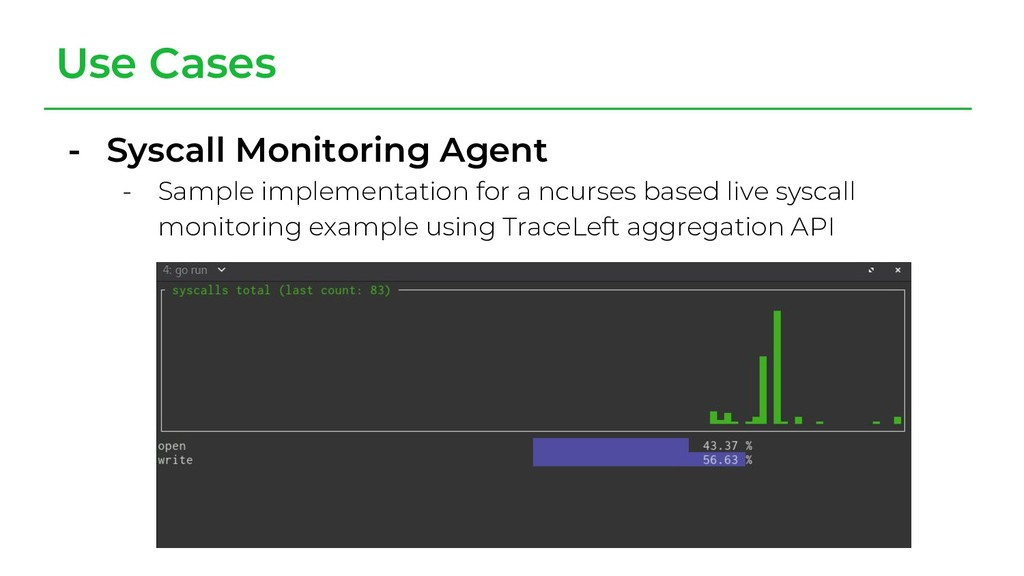 Use Cases - Syscall Monitoring Agent - Sample i...