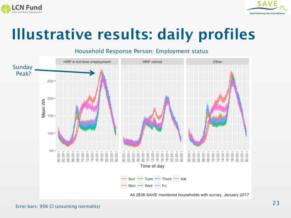 Illustrative results: daily profiles 23 Househo...