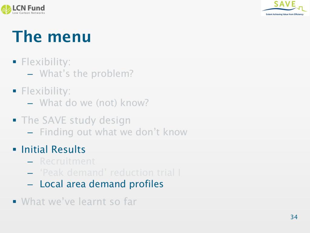 The menu § Flexibility: – What's the problem? §...