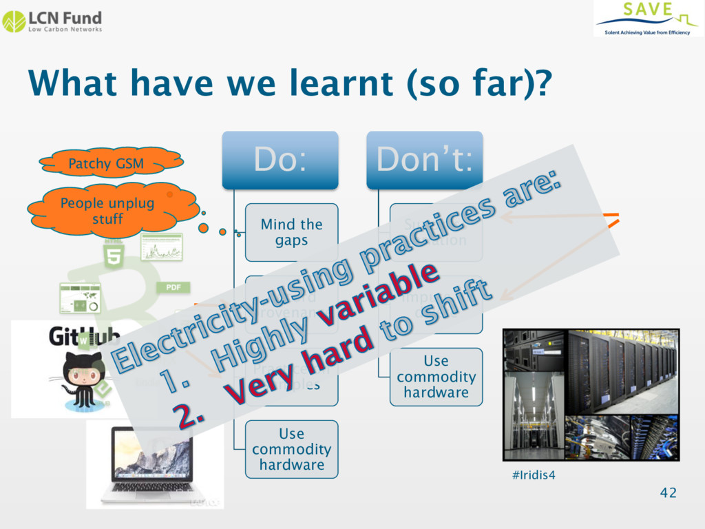 What have we learnt (so far)? Do: Mind the gaps...