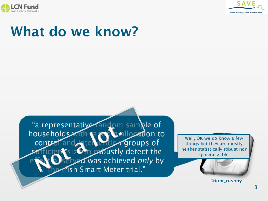"""What do we know? 8 """"a representative random sam..."""