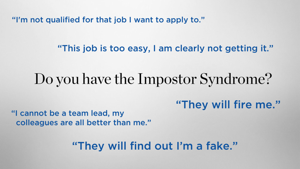 """""""I'm not qualified for that job I want to apply..."""