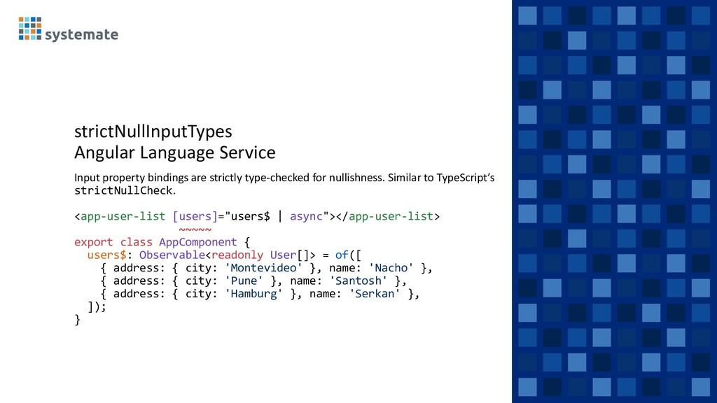 strictNullInputTypes Angular Language Service I...