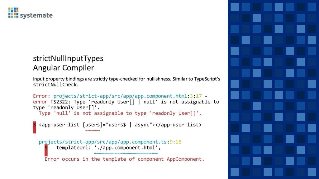 strictNullInputTypes Angular Compiler Input pro...