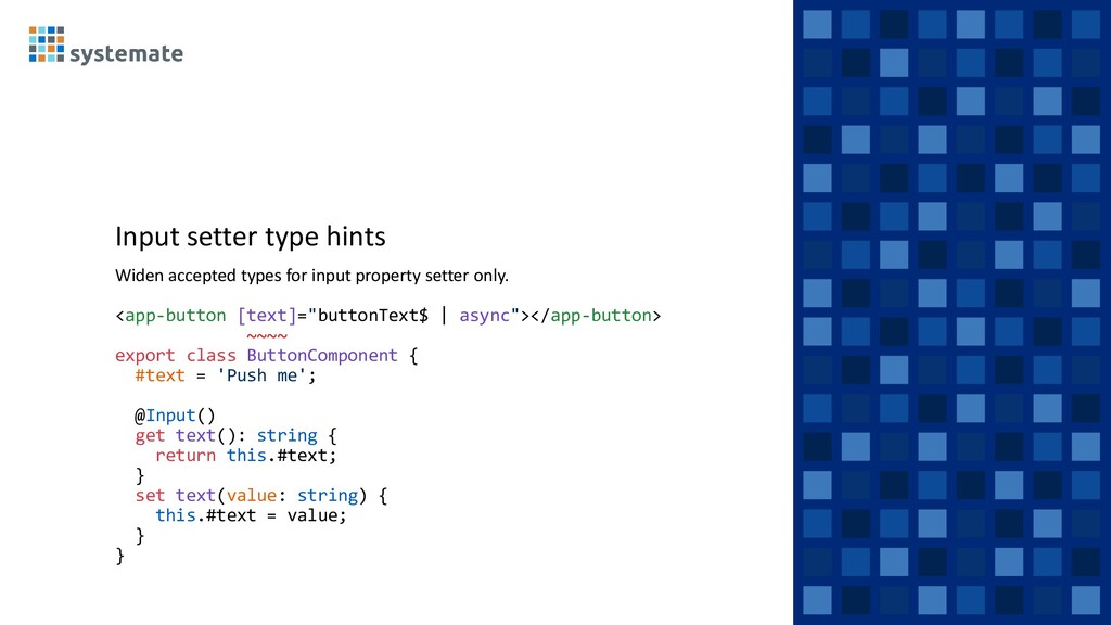 Input setter type hints Widen accepted types fo...