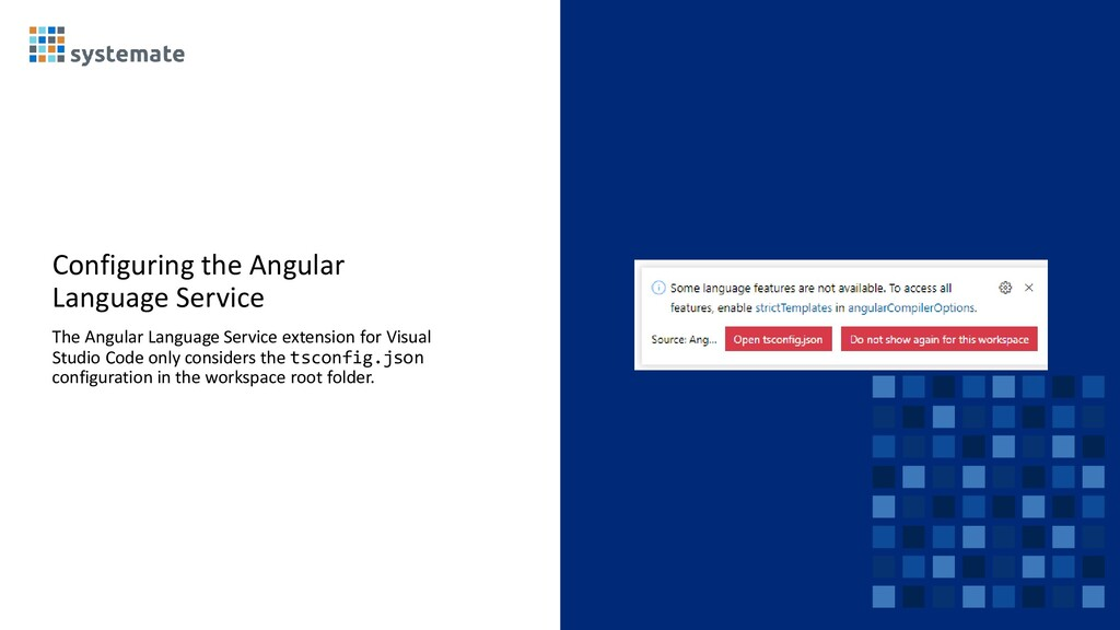 Configuring the Angular Language Service The An...