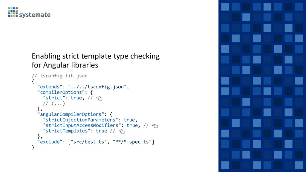 Enabling strict template type checking for Angu...