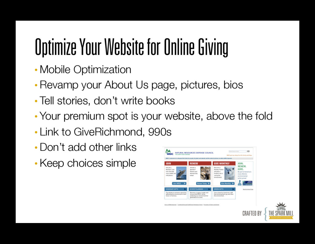 Optimize Your Website for Online Giving •Mobil...
