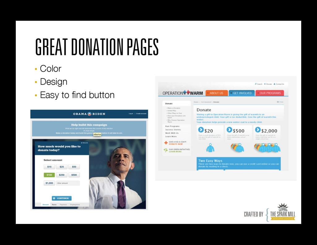 GREAT DONATION PAGES • Color • Design • Ea...