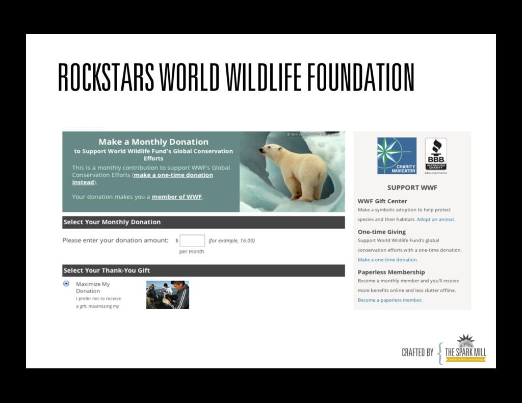 ROCKSTARS WORLD WILDLIFE FOUNDATION