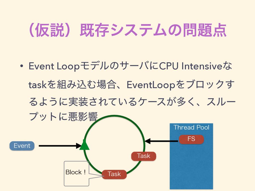 5ISFBE1PPM ʢԾઆʣطଘγεςϜͷ • Event LoopϞσϧͷαʔόʹ...