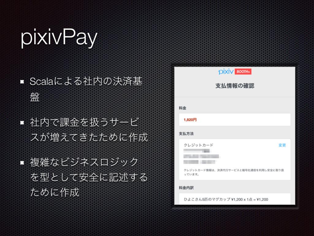 pixivPay ScalaʹΑΔࣾͷܾࡁج ൫ ࣾͰ՝ۚΛѻ͏αʔϏ ε͕૿͖͑ͯͨͨΊ...
