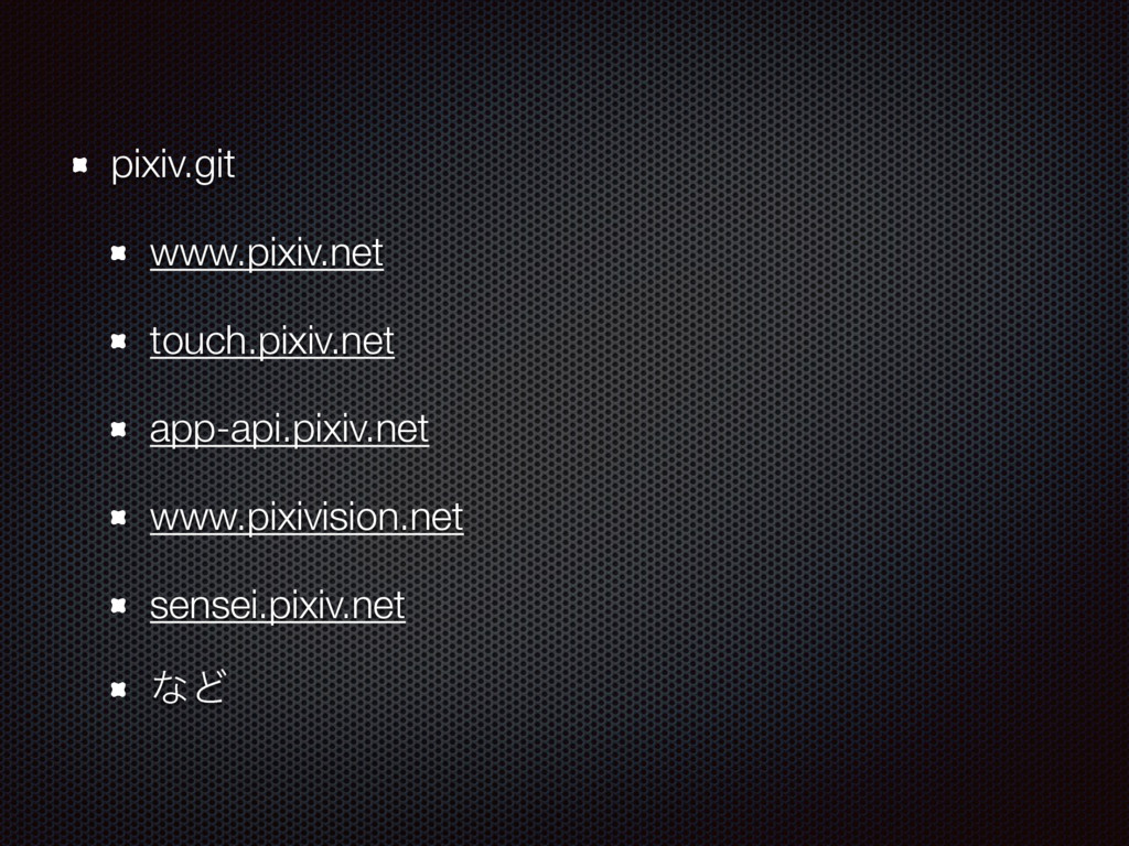 pixiv.git www.pixiv.net touch.pixiv.net app-api...