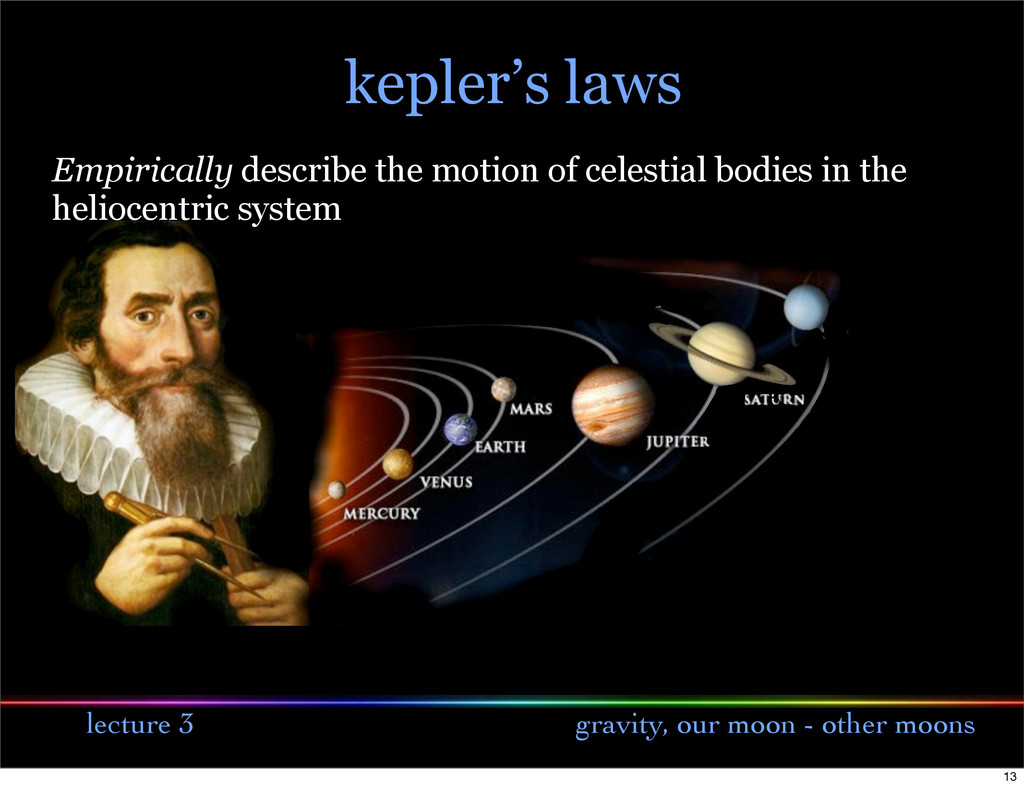 lecture 3 gravity, our moon - other moons Empir...