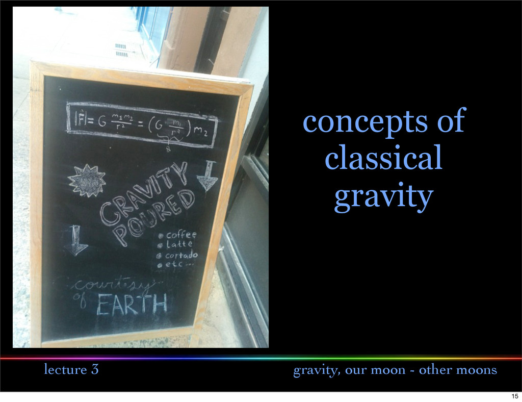 lecture 3 gravity, our moon - other moons conce...