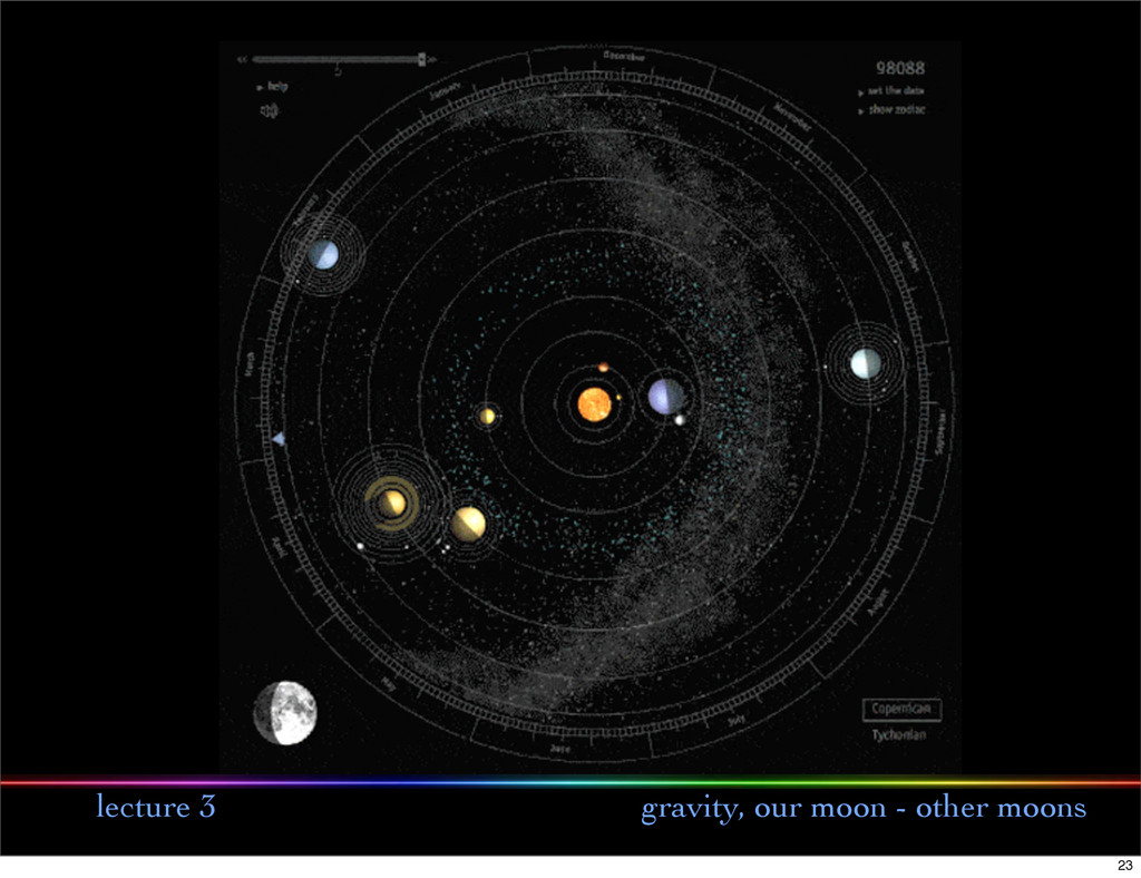 lecture 3 gravity, our moon - other moons 23