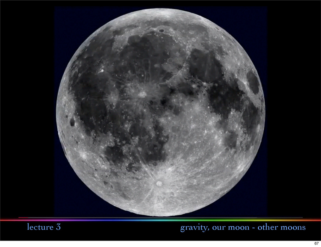 lecture 3 gravity, our moon - other moons 67