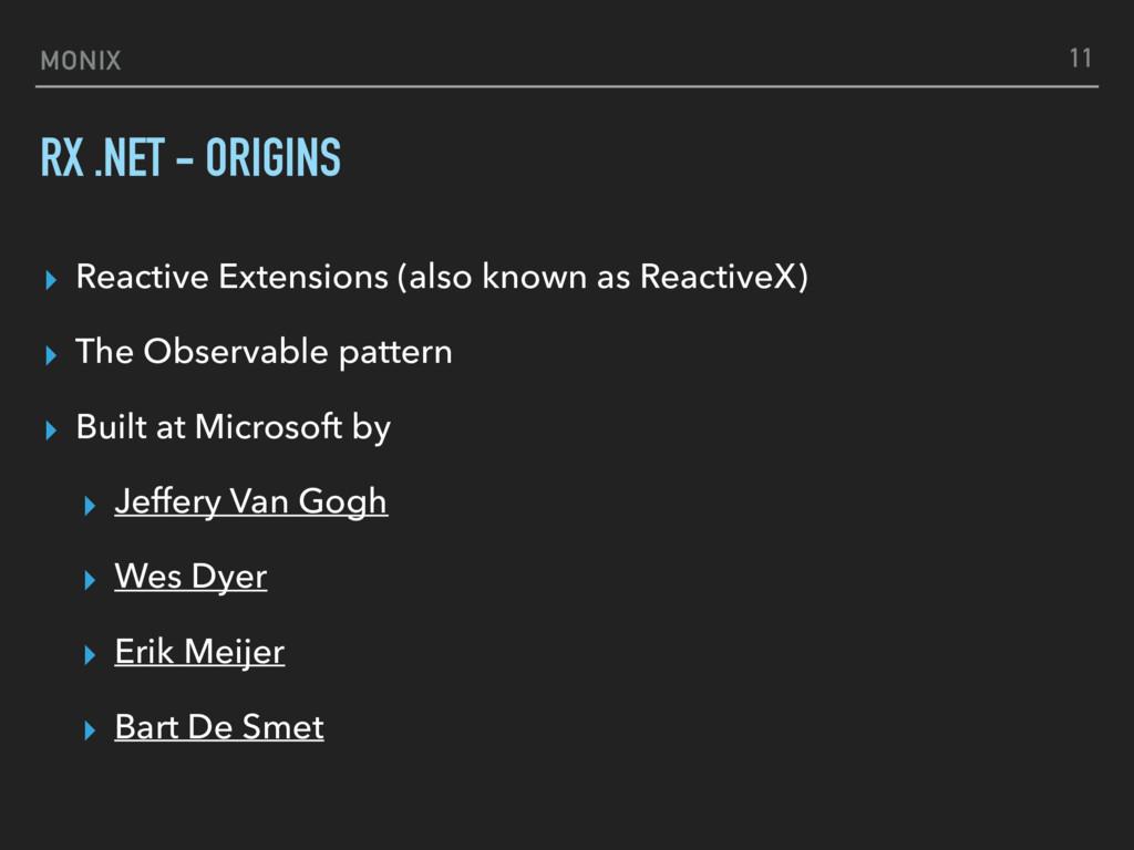 MONIX RX .NET - ORIGINS ▸ Reactive Extensions (...