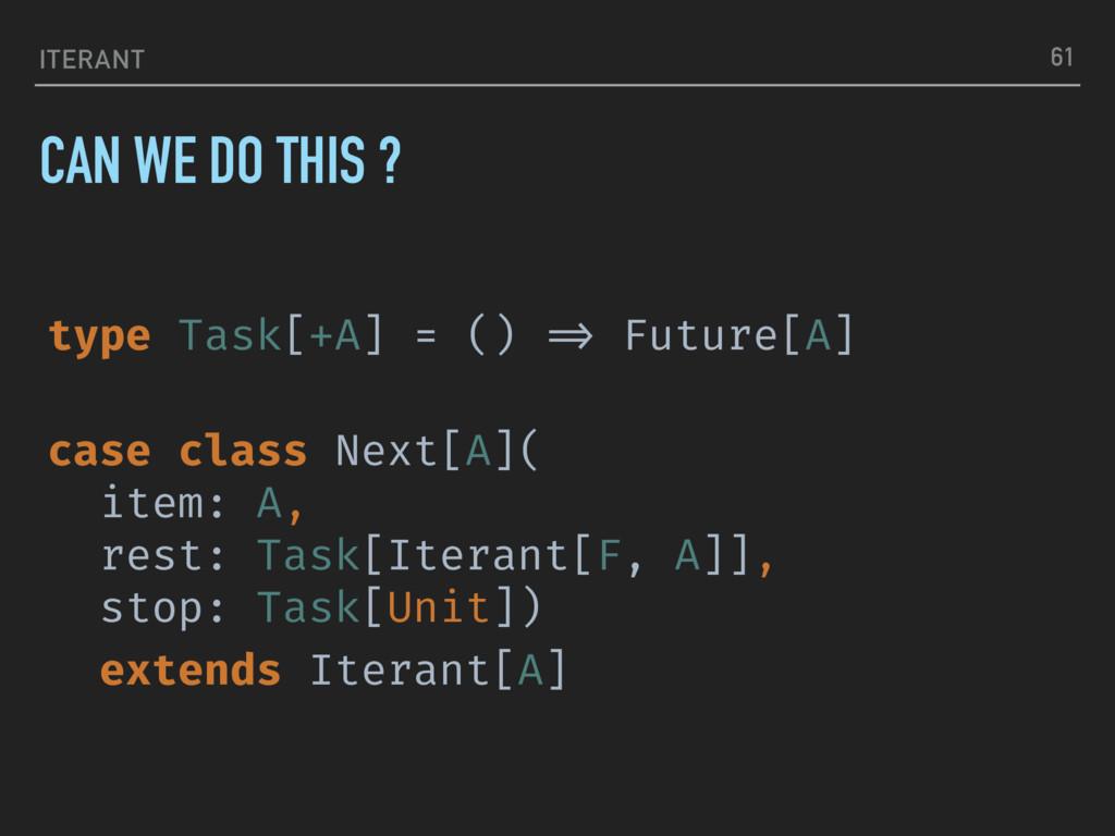 ITERANT type Task[+A] = () !=> Future[A] case c...