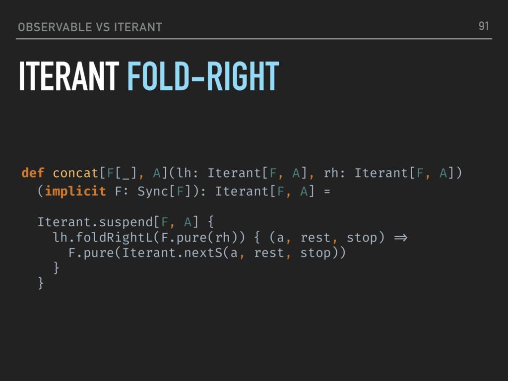 OBSERVABLE VS ITERANT ITERANT FOLD-RIGHT 91 def...