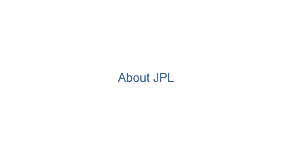 About JPL