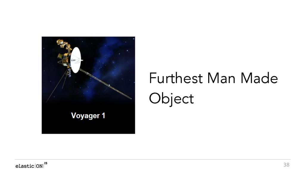 { } 38 Furthest Man Made Object