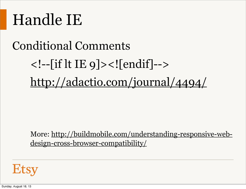 Handle IE Conditional Comments <!--[if lt IE 9]...