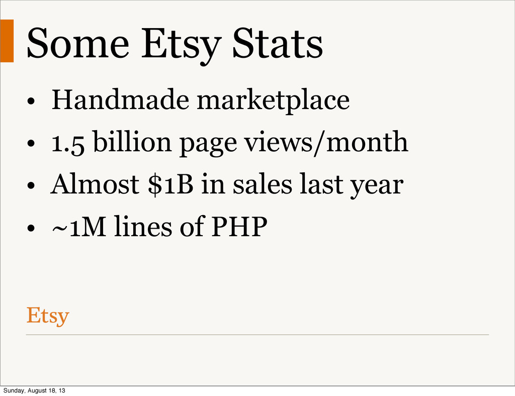 Some Etsy Stats • Handmade marketplace • 1.5 bi...