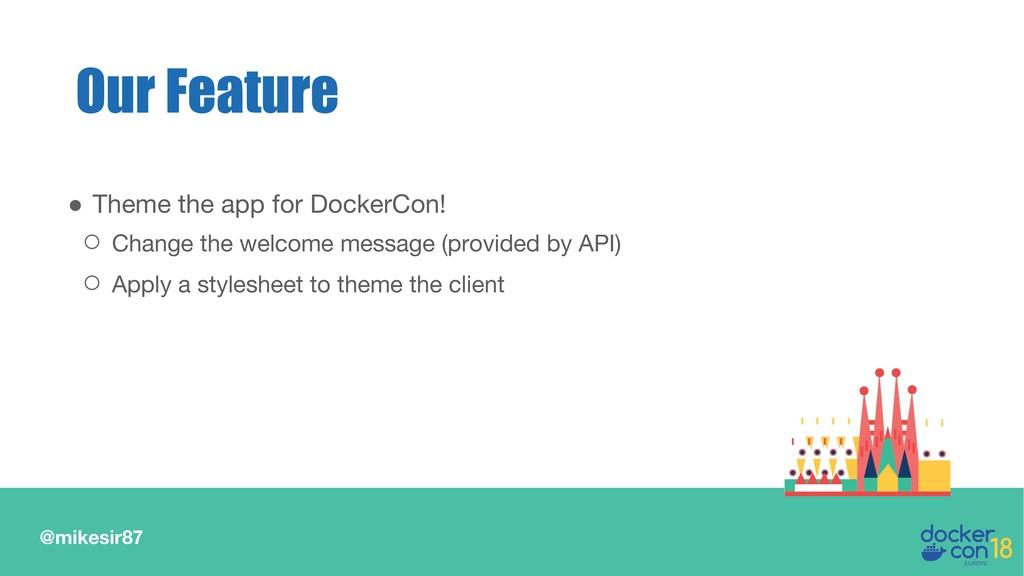 @mikesir87 ● Theme the app for DockerCon! ○ Cha...