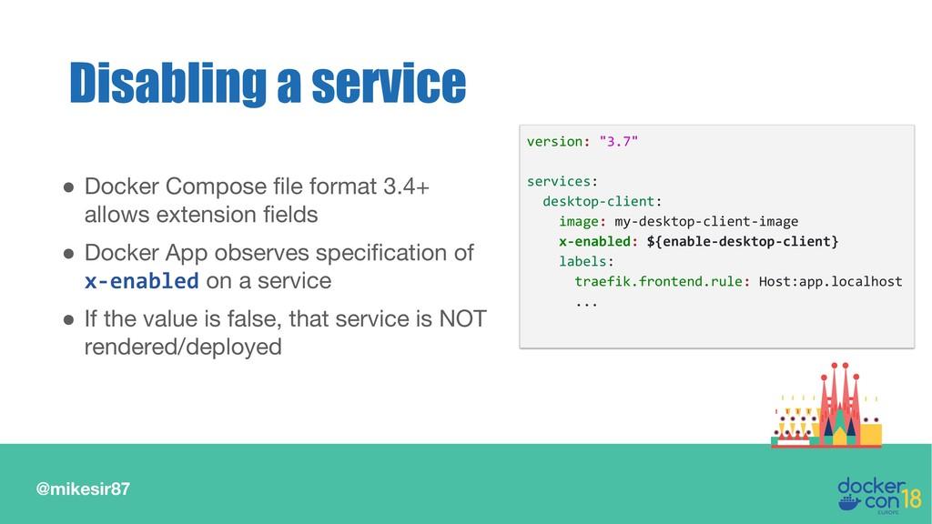 @mikesir87 ● Docker Compose file format 3.4+ al...