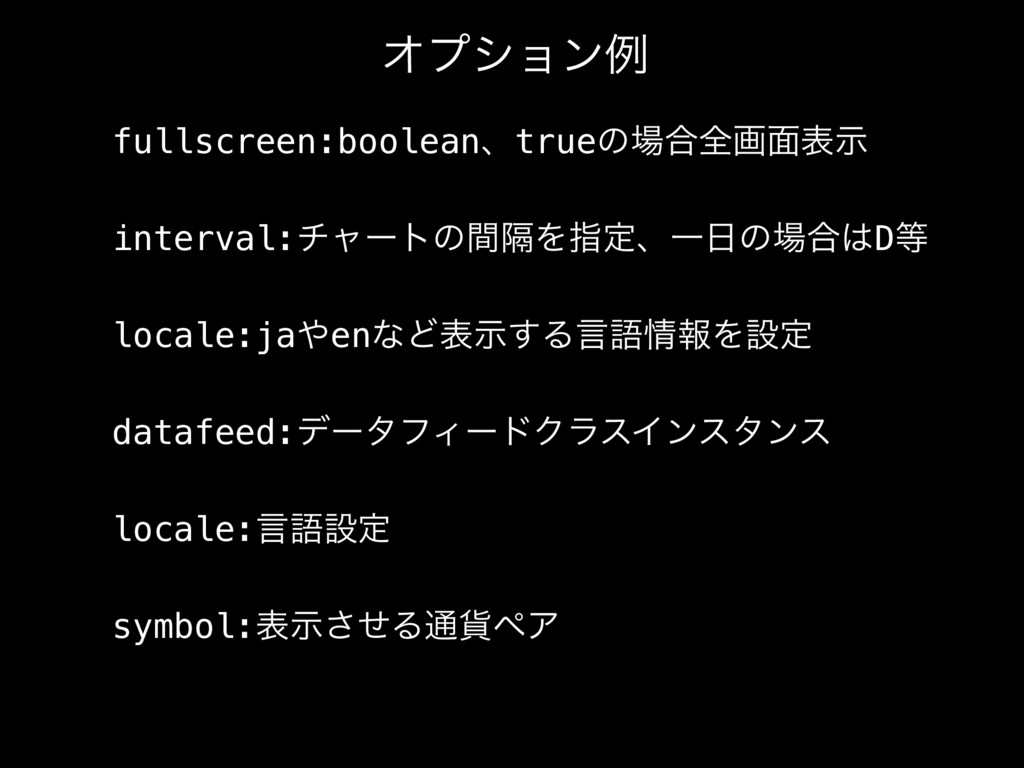 fullscreen:booleanɺtrueͷ߹શը໘දࣔ interval:νϟʔτͷؒ...