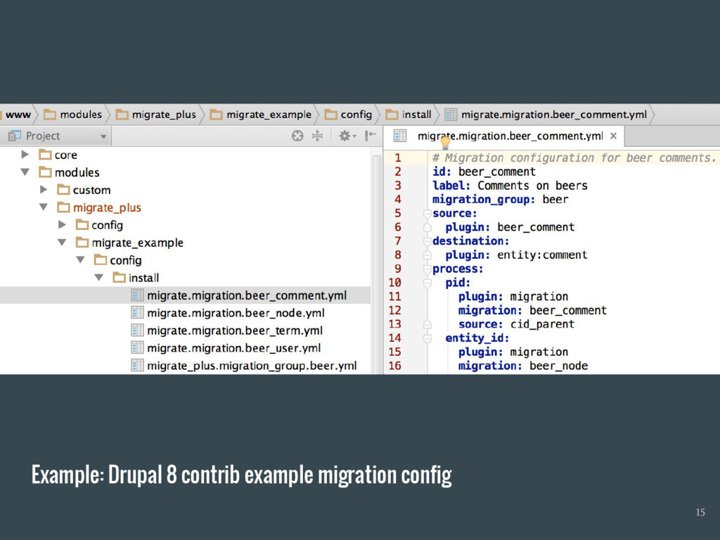 Example: Drupal 8 contrib example migration con...