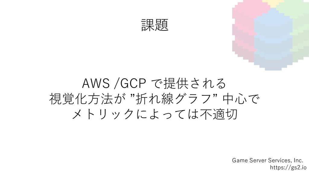 課題 Game Server Services, Inc. https://gs2.io AW...