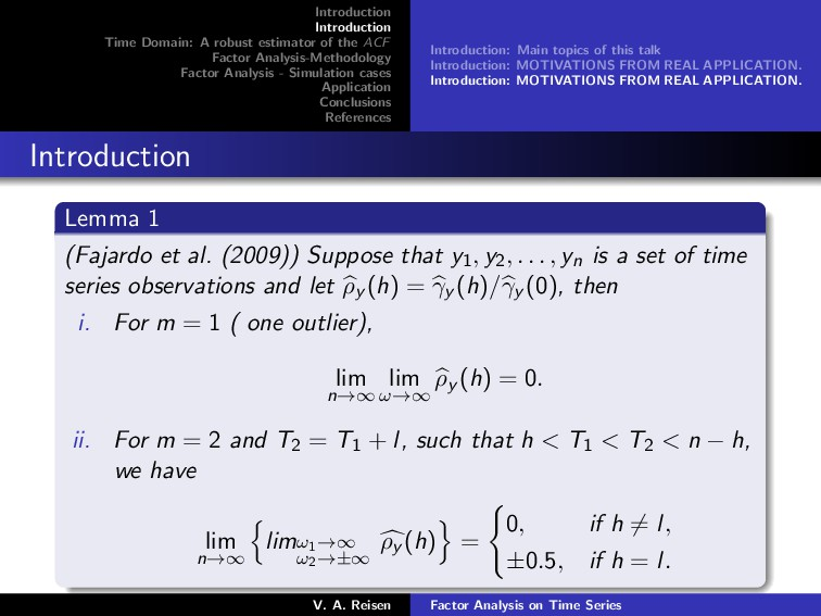 Introduction Introduction Time Domain: A robust...