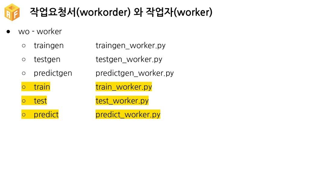 작업요청서(workorder) 와 작업자(worker) ● wo - worker ○ ...