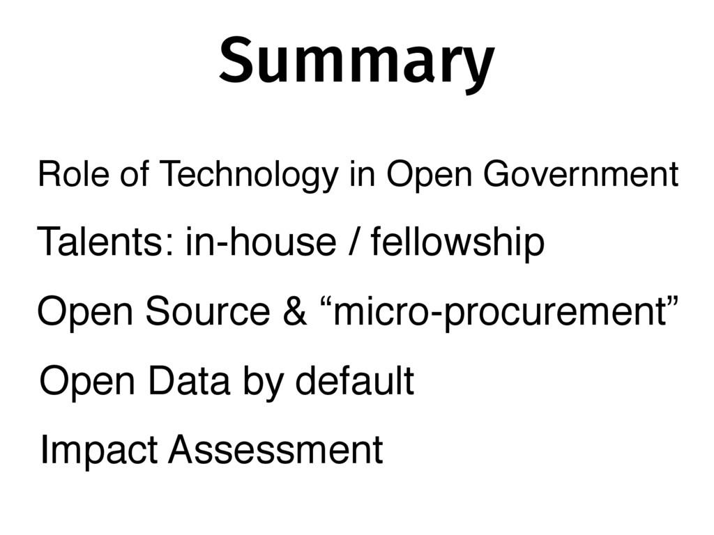 Summary Talents: in-house / fellowship Open Sou...