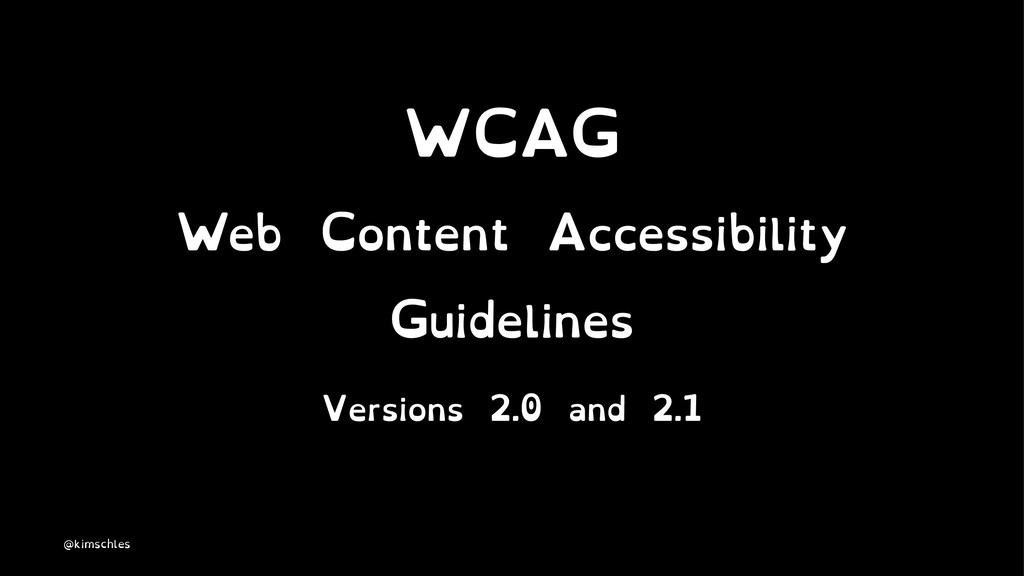 WCAG Web Content Accessibility Guidelines Versi...