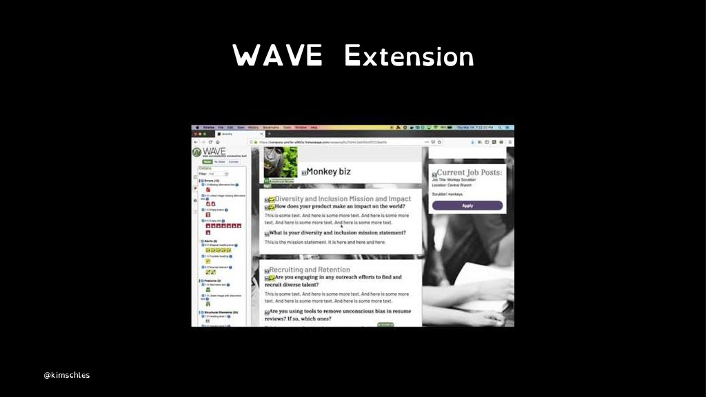 WAVE Extension @kimschles