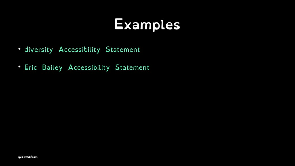 Examples • diversity Accessibility Statement • ...