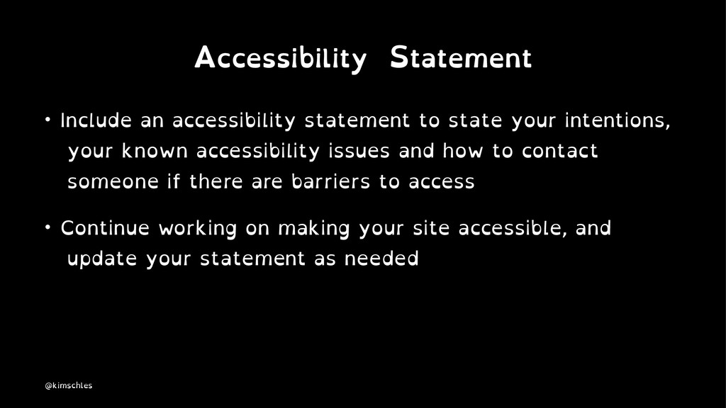 Accessibility Statement • Include an accessibil...