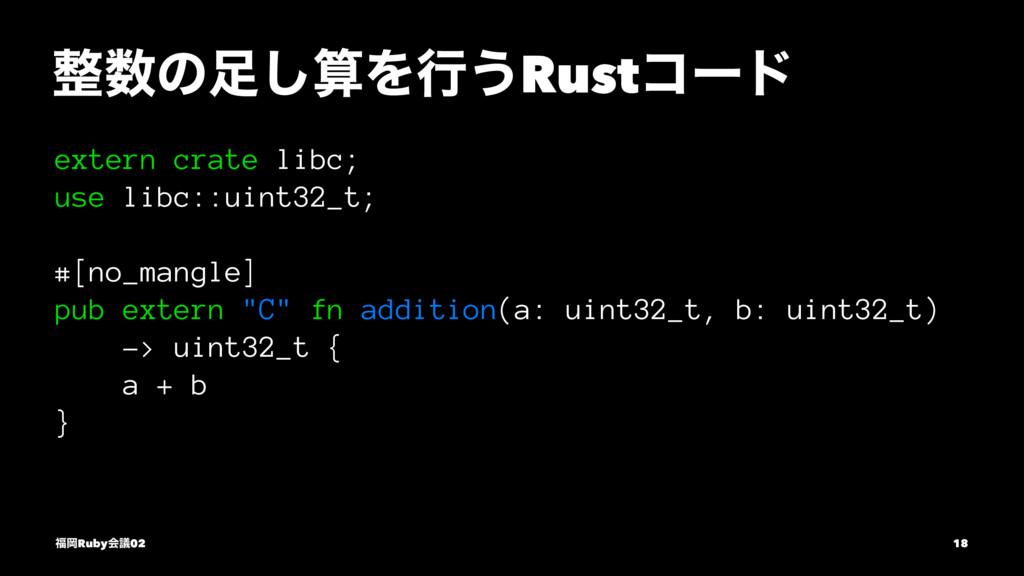 ͷ͠Λߦ͏Rustίʔυ extern crate libc; use libc::u...